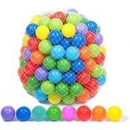 Playz 500 Soft Plastic Play Balls w 8 Vibrant Colors - Crush Proof, No Sharp Edges, Certified Non Toxic, Phthalate & BPA Free - Use in Baby or Toddler Ball Pit, Play Tents & Tunne