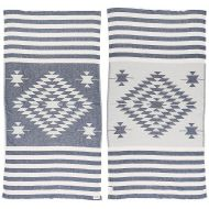 Portable bed for kids Bersuse 100% Cotton Carmen Dual-Layer Handloom Turkish Towel-37X70 Inches, Dark Blue