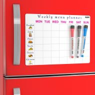Dry Erase Board Menu | Meal Planning Pad for Family - Kitchen Menu Dry Erase Magnetic List for Refrigerator by SmartMagnets