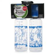 Tommee Tippee Essential Basics Standard Neck Decorated Bottles 2x 250ml9floz (Boy)