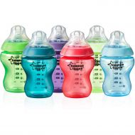 Tommee Tippee 522597 Closer to Nature 9-oz Fiesta Colored Baby Bottles, 6pk