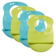 Tommee Tippee Explora Easi Roll Bib, Blue and Green, 4-Pack