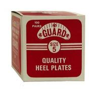 Guard Plastic Plates Box for Shoe & Boot Size 5 (2 1/8) - 100 Pairs by Traveler