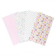 Trend Lab Pink Safari 4 Piece Flannel Burp Cloth Set