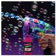 Unbranded 3 PACK Light Up LED Bubble Gun Toy Bubble Maker Flashing Blaster Summer Outdoor