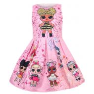 WNQY Girls Surprise Princess Dress up Doll Digital Print Party Gown Dress for Doll Surprised
