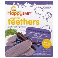 Walgreens Happy Baby Gentle Teethers Organic Teething Wafers Blueberry & Purple Carrot
