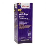 Walgreens Wal-Tap Childrens Cold & Allergy Elixir Grape