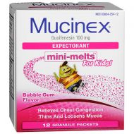 Walgreens Childrens Mucinex Chest Congestion Expectorant, Mini-Melts Bubble Gum