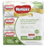 Walgreens Huggies Natural Care Baby Wipes, Soft Pack (168 Sheets), Fragrance-free, Alcohol-free, Hypoallergenic Fragrance Free