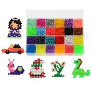 ZeRui 24 Colors 5mm Early Education DIY 3d Puzzles Toys Set Hama Beads Perler Beads Children Creative Gift Kids Handmaking Toys 3000pcs